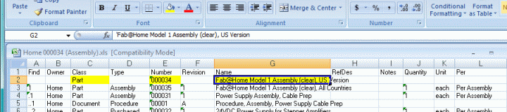 creating a graphical bill of materials in visio