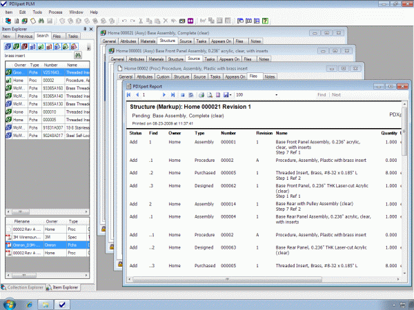 PDXpert PLM software features and functions