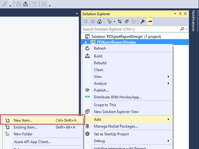 Adding a custom SQL Server report to PDXpert