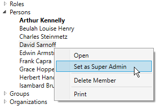 Set as Super Admin