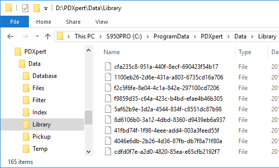 Data and Library folder location