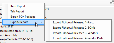 PDXpert change form Affected list's sequence for importing data to Fishbowl